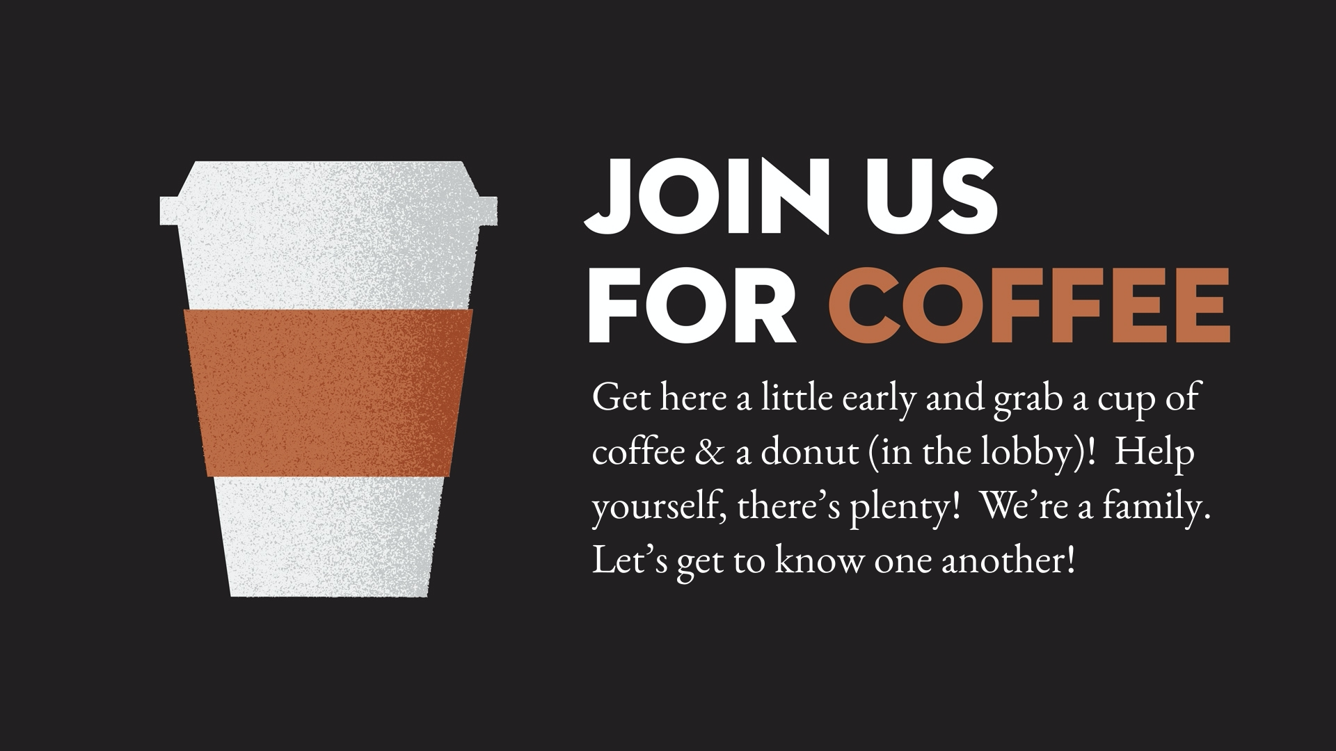 Join us for coffee!